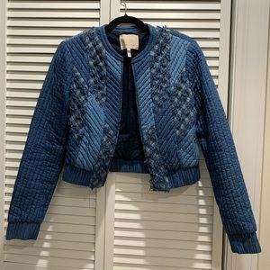 Rebecca Taylor denim blue bomber jacket size M